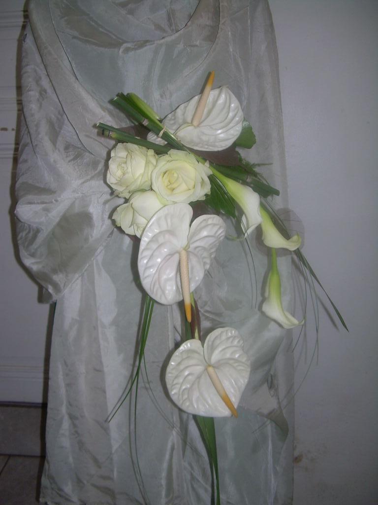 bouquet de mariee cascade – flor'mnico fleur