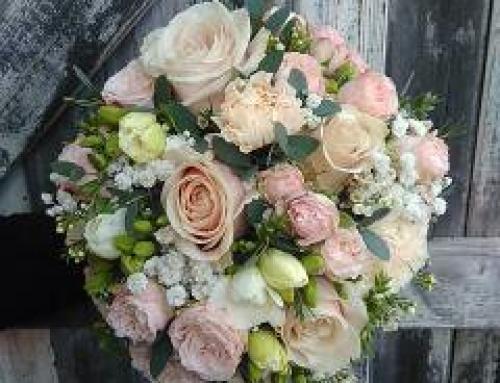 Bouquet de mariée rond champêtre